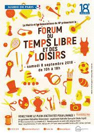 Forum du temps et des loisirs, samedi 8 septembre de 10h à 18h