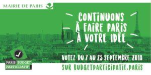 BUDGET PARTICIPATIF : du 7 au 23 septembre !